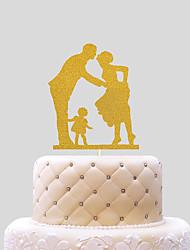 cheap -Cake Topper Wedding Hearts Paper Wedding with 1 pcs PVC Bag