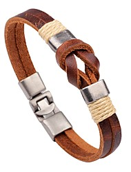 cheap -Men's Women's Leather Bracelet Fashion Leather Bracelet Jewelry Brown For Casual Going out
