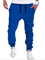 cheap -Men's Active / Street chic Daily Sports Going out Harem / Sweatpants Pants - Solid Colored Khaki Light gray Royal Blue XL XXL XXXL / Weekend