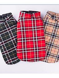 abordables -Chien Manteaux Hiver Vêtements pour Chien Chaud Vert Rouge Beige Costume Coton Géométrique Décontracté / Quotidien XS S M L XL XXL