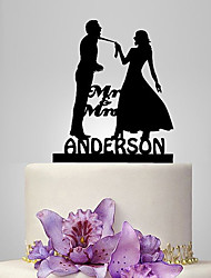cheap -Cake Topper Classic Theme / Wedding Classic Couple Plastic Wedding with 1 pcs Poly Bag