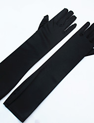 cheap -Stretch Satin / Spandex Fabric Opera Length Glove Bridal Gloves / Party / Evening Gloves With Pearl