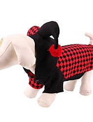 cheap -Dog Costume Coat Hoodie Winter Dog Clothes Red Costume Terylene Angel & Devil Party Cosplay Halloween XS S M L XL
