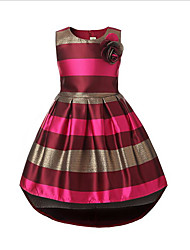 cheap -Kids Girls' Stripes Daily Striped Sleeveless Dress Blue / Cotton