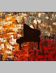cheap -Hand-Painted Abstract Horizontal Panoramic,Artistic Abstract Cool One Panel Canvas Oil Painting For Home Decoration