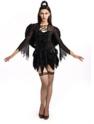 cheap -Angel / Devil Bride Cosplay Costume Halloween Festival / Holiday Polyster Black Carnival Costumes Fashion