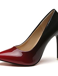 cheap -Women's Heels Stiletto Heel Pointed Toe PU(Polyurethane) Basic Pump Fall Gray / Red / 2-3 / EU37
