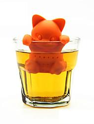 Недорогие -мультфильм кошка ситечко для чая силиконовые заварки чая милый котенок чай инструменты