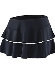 cheap -cheji® Women's Cycling Skirt Bike Shorts Skirt Padded Shorts / Chamois Quick Dry Sports Stripes White / Black / Pink Road Bike Cycling Clothing Apparel Relaxed Fit Bike Wear