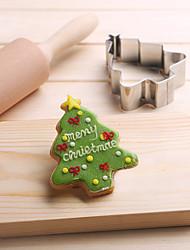 Недорогие -Рождество формы дерева сосна печенья фрукты вырезать формы из нержавеющей стали торт плесень