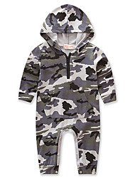 cheap -Baby Boys' Dresswear Weekend Camo / Camouflage Long Sleeve Cotton Overall & Jumpsuit Gray / Toddler