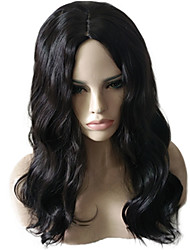 cheap -Synthetic Wig Cosplay Wig Wavy Natural Wave Natural Wave Deep Wave Asymmetrical Wig Medium Length Long Black#1B Synthetic Hair Women's Natural Hairline African American Wig Black