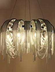 abordables -8 lumières Lampe suspendue Lumière d'ambiance Chrome Métal Style mini, Ampoule incluse, Designers 110-120V / 220-240V Blanc Crème / Blanc Neige