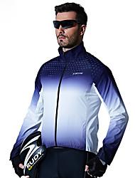 Недорогие -SANTIC Муж. Велокуртки Велоспорт Верхняя часть С защитой от ветра Виды спорта Синий Горные велосипеды Шоссейные велосипеды Одежда Продвинутый уровень Очень свободное облегание Одежда для велоспорта