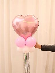 cheap -10Pcs/Set Tassel Ribbon Aluminum Balloon Wedding Anniversary Birthday Party Decorations Decorative Bar Tassel Curtains