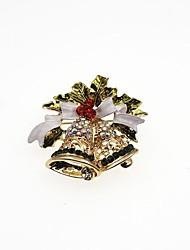 Недорогие -Муж. Жен. Синтетический алмаз Броши Классика Мода Брошь Бижутерия Золотой Назначение Рождество Подарок