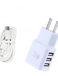 Недорогие -Зарядное устройство для дома / Портативное зарядное устройство Зарядное устройство USB Стандарт США / Евро стандарт Быстрая зарядка / Несколько портов 3 USB порта 3.1 A для