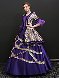 cheap -Marie Antoinette Dress Cosplay Costume Masquerade Ball Gown Adults' Women's Victorian Medieval Renaissance 18th Century Christmas Halloween Carnival Festival / Holiday Satin Purple Carnival Costumes