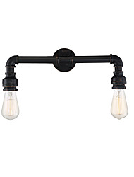 cheap -Loft Retro Industrial Style Wall Sconce Restaurant And Bar Metal Water Pipe Wall Lamp 2-Light Painted Finish