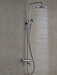 cheap -Shower Faucet - Contemporary Modern / Contemporary Chrome Wall Mounted Ceramic Valve