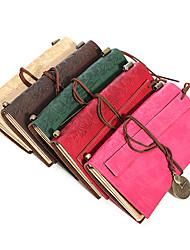 abordables -carnet de notes en cuir vintage avec marque-pages en cuir 100pages