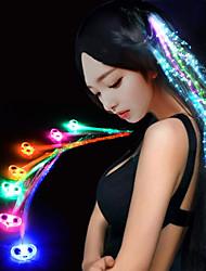 cheap -Luminous Braid 7 Colour Glow Fiber Braid Hair Wigs Bar KTV Party 32CM