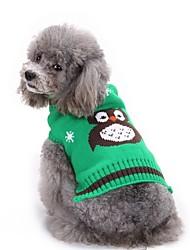 cheap -Dog Sweater Dog Clothes Orange Green Red Costume Chinlon Animal Halloween XS S M
