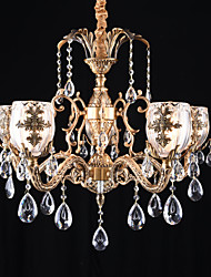 cheap -QINGMING® 5-Light 75 cm Designers Chandelier Metal Brass Traditional / Classic 110-120V / 220-240V