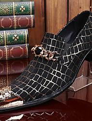 Недорогие -Муж. Официальная обувь Осень / Зима Винтаж Повседневные Для вечеринки / ужина Туфли на шнуровке Наппа Leather Ручная работа Черный