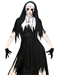 cheap -Bloody Mary Dress Adults' Halloween Day of the Dead Festival / Holiday Polyster Carnival Costumes Vintage