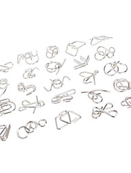 cheap -Nine Serial Toy Chinese Puzzle Ring Solution Buckle Unlatching Intellectual Boys' Girls' Toy Gift 24 pcs / 14 years+