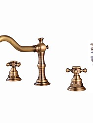 cheap -Faucet Set - Widespread Antique Copper Widespread Two Handles Three HolesBath Taps