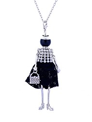 cheap -Women's Statement Necklace Long Princess Ladies Luxury Lace Alloy Black Purple Necklace Jewelry For Party Street