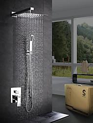 cheap -Shower Faucet - Modern Contemporary Chrome Shower System Ceramic Valve Bath Shower Mixer Taps / Brass