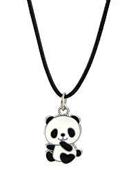 cheap -Women's Men's Pendant Necklace Panda Animal Alloy Black Necklace Jewelry For Party Club