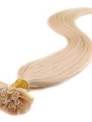 Недорогие -Febay Fusion / с U-образным кончиком Расширения человеческих волос Классика Натуральные волосы Накладки из натуральных волос Жен. Черный