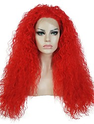 cheap -women synthetic wig lace front long kinky straight red party wig halloween wig cosplay wig natural wigs costume wigs Halloween