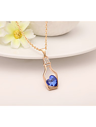 cheap -Women's Pendant Necklace Classic Fashion Alloy Pink Light Blue Dark Green Necklace Jewelry For Wedding Gift