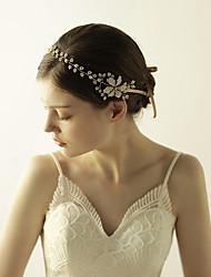 cheap -Imitation Pearl Rhinestone Tiaras Headbands Flowers 1 Wedding Special Occasion Anniversary Birthday Party / Evening Headpiece
