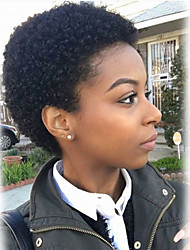 cheap -Human Hair Capless Wigs Human Hair Curly Short Hairstyles 2019 Halle Berry Hairstyles African American Wig Machine Made Wig Women's