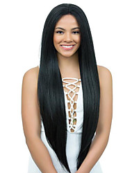cheap -Virgin Human Hair Glueless Full Lace Glueless Lace Front Full Lace Wig style Brazilian Hair Yaki Straight Wig 130% 150% 180% Density with Baby Hair Natural Hairline 100% Virgin Unprocessed Women's