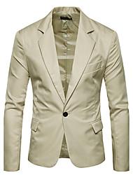 cheap -Men's Blazer Daily Plus Size Notch Lapel Regular Solid Colored Long Sleeve White / Black / Red M / L / XL / Fall / Winter / Slim