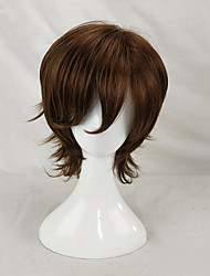 cheap -Synthetic Wig Cosplay Wig Curly Curly Layered Haircut Wig Short Brown Synthetic Hair Men's Brown hairjoy