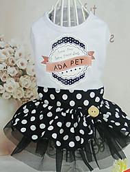 cheap -Dog Dress Dog Clothes Costume Cotton Princess Casual / Daily S M L XL
