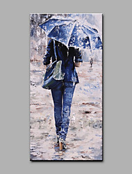cheap -Oil Painting Hand Painted - People Art Deco / Retro Rolled Canvas