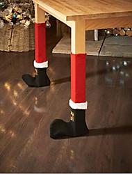 Недорогие -2 шт. / Компл. Рождественский стул ноги ноги покрытия стола украшение для вечеринки ужин рождественские украшения вечеринка dinning стул носки чехлы