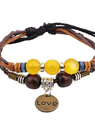 cheap -Men's Women's Leather Bracelet Love Leather Bracelet Jewelry Brown For Casual Going out