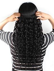 cheap -Brazilian Hair Natural Wave Water Wave Human Hair Natural Color Hair Weaves / Hair Bulk Human Hair Weaves Human Hair Extensions / 8A