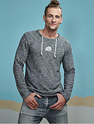 cheap -Men's Sports Active Street chic Long Sleeves Pullover - Solid Colored Color Block Round Neck