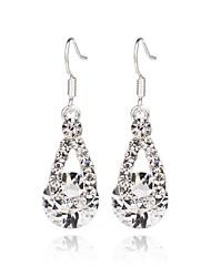 cheap -Women's Hoop Earrings Pear Fashion Zircon Earrings Jewelry Light Red / Blue / Pink For Wedding Party Halloween Daily Casual